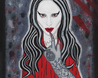 American Horror Story Art / American Horror Story / Lady Gaga Art / Lady Gaga Glove / Gifts for Her / Gifts for Him / Art Print