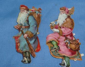 Diecut Victorian Santa Cut Outs