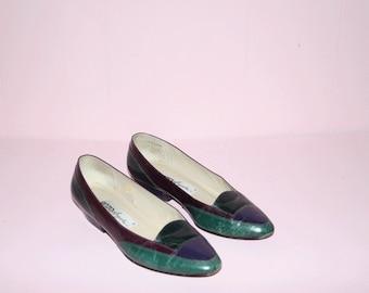 Vintage Loafers/ 1990's/ Flats/ SZ 7.5