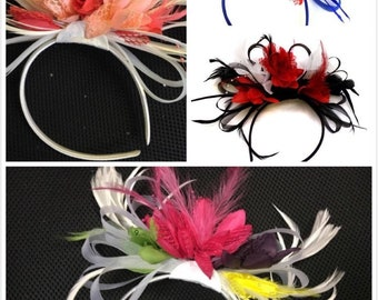 Bespoke Fascinator on Headband for Weddings and Ascot Races - 3 Colours