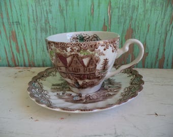 Vintage Heritage Hall Tea Cup By Johnson Brothers
