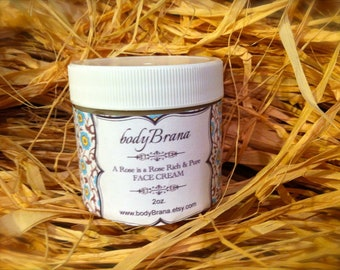 Organic Rose Face Cream, Rich and Pure Moisturizer