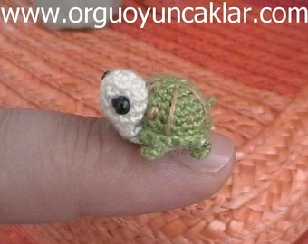 Häkeln Sie 0,4 inc Miniatur Schildkröte
