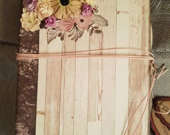 Flower Scrapbook / Journal