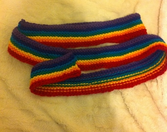 Striped skinny rainbow LGBT pride scarf **price drop**