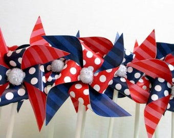 4th of July Cupcake Toppers Fourth of July Favors July 4th Party Favors 4th of July Decoration Fourth of July Red White and Blue Patriotic