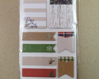 "160 Piece Planner Sticky Notes Christmas Theme 1-2"" Rectangles Banners Flags B"