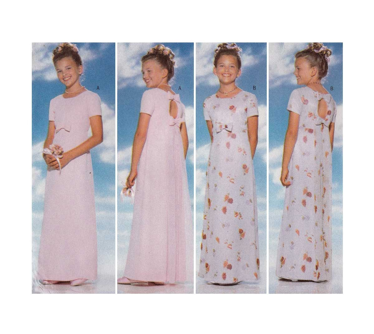 Girls formal dress evening length sewing pattern size 12 14 zoom ombrellifo Image collections