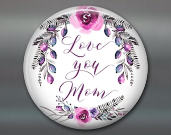 Mothers Day card unique - Mothers Day from daughter - Mother's day card - flower fridge magnet - kitchen decor MA-1409
