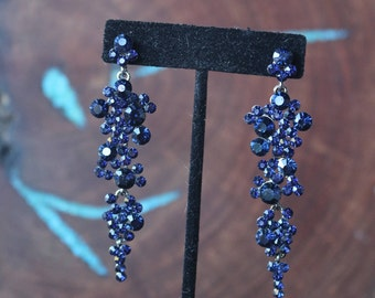 insert earrings en rhinestone crystal vintage with