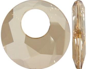 Crystal Golden Shadow Swarovski 6041 28mm Victory Pendant Swarovski Elements