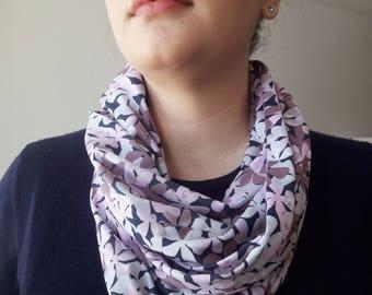 Floral Infinity Scarf, ELOISE Pattern (PURPLE)