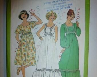 1970's Vintage Simplicity Misses' Dress Pattern 8310 Size 12