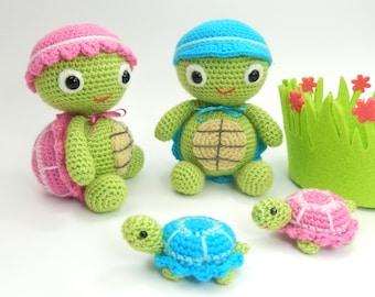 Tommy and Tammy Tortoise - Amigurumi Crochet Pattern