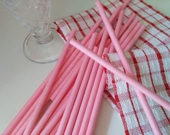 Pink Paper Straws, Drinking Straws, Solid Pink  Straws ,Wedding Straws, , Mason Jar Straws,Party Straws