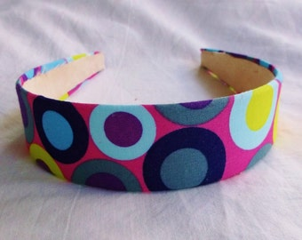 New Fish Lips Cotton Headband by Fun Prints Colorado, dots headband, multi colors headbands