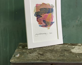 crest / original watercolor / one of a kind painting