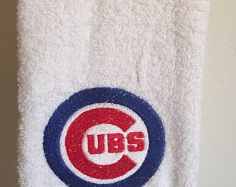 Embroidered ~Chicago CUBS~ Baseball MLB Kitchen Bath Hand Towel