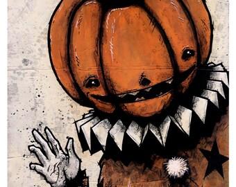 The Halloween Clown - 8x10 Art Print