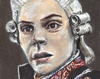 Evan Peters as Edward Philippe Mott American Horror Story Roanoke Copic Marker Drawing Art Print  11.7 x 16.5 inches