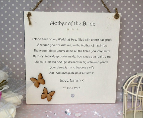 Father Daughter Wedding Gifts: Mother Of The Bride Gift Personalised Gift For Mother Of The