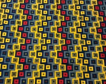 Fabric by the yard, checkered print -dress, pillows, headscarf, skirt