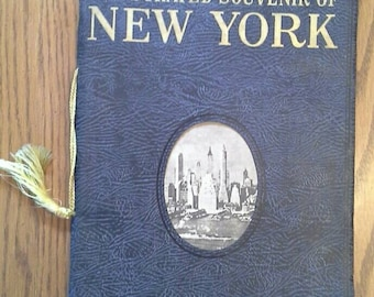 1937 Illustrated Souvenir of New York, a pictorial view guide of what there is best to see