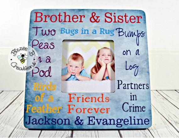 ON SALE Siblings Picture Frame, Brother & Sister Frame, Mothers Day ...
