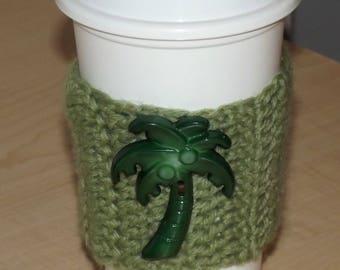 Palm Tree Coffee Cup Cozy