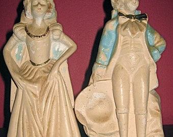 1940s Chalk Figurines - Aristocrat Couple