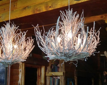 Grapevine chandelier etsy stone mountain modern rustic white chandelier 3 light custom twig light white grapevine chandelier custom handmade ooak aloadofball Choice Image
