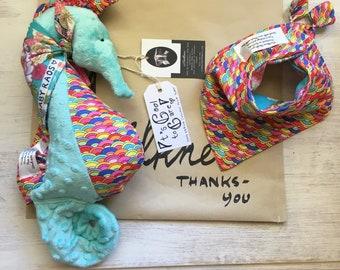 Sweet Seahorse plush rattle- part proceeds to Sea Shepherd