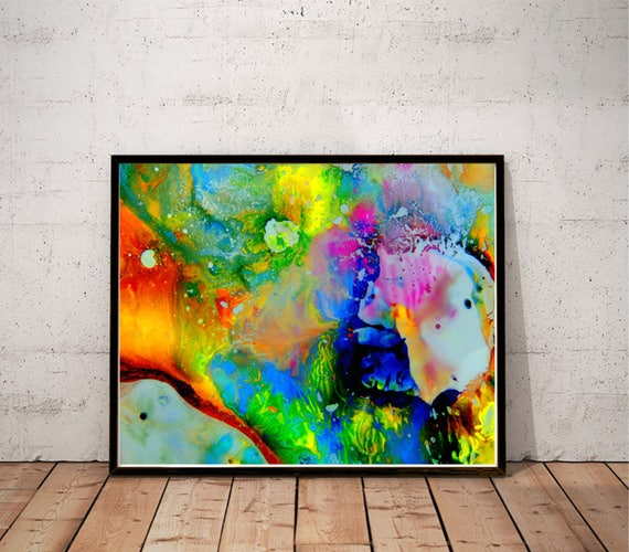 Psychedelic Art / Abstract Painting Print / Colorful Wall Art