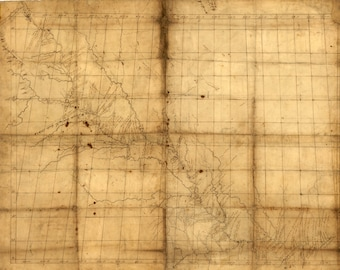 Map of Missouri River Used by Lewis and Clark, 1798