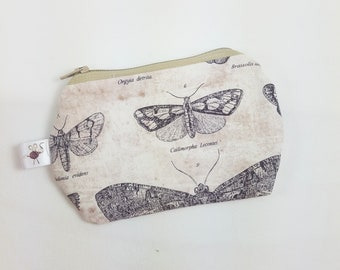 Mini Zipper Pouch Butterflight Flat Zipper Storage Coin Pouch / Scissor Case / Card Holder / Notions Pouch S494