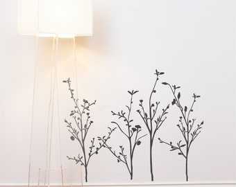 Spring Branches - Wall Decal - Charcoal