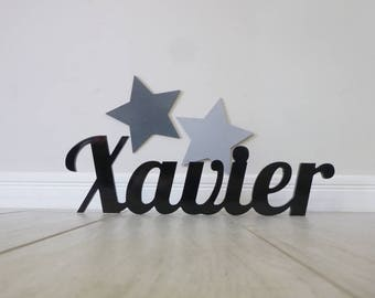 Wooden name, Nursery decor, Wooden name signs, Custom wooden names, Baby name sign, Boys name sign - Fresh Font