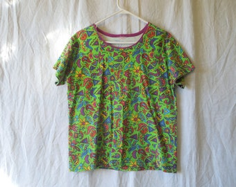 90s Neon Funky Abstract Pattern T-Shirt
