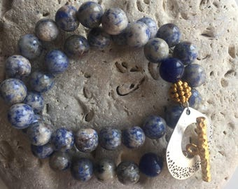 Sodalite Necklace ,Gemstone beaded Necklace,Handmade Jewellery ,Modern Necklace ,Sodalite beads , One of a Kind Necklace ,Stylish Necklace