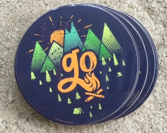 Vinyl Sticker - GO - Outdoors - free shipping