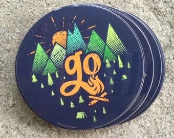 Vinyl Sticker - GO - Outdoors - free shipping