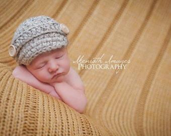 Newborn Newsboy Hat for Boys / Newsboy Hat / Baby Newsboy Hat / Newborn Boy Prop / Baby Newsboy Hat / Newsboy Cap / Newborn Boy Photo Props
