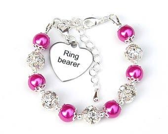 Ring Bearer Gift, Wedding Kids Gifts, Ring Bearer Bracelet, Girls Wedding Jewelry, Flowergirl Gift, Ring Bearer Jewelry, Bridal Party Gift