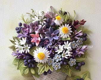 Basket with Meadow Flowers