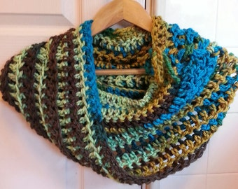 Crochet Pattern Chunky Cowl Scarf  Hood Poncho Tie Fall Spring Summer Winter Fall