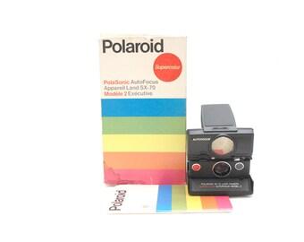 Polaroid Sx 70 Land Camera Supercolor Autofocus Model 2 [includes original box]
