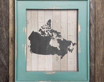 Canada Map Print - Chalkboard Art - Canadian Poster Art - Cabin Decor - Canadiana - Made in Canada Canadian Sellers - Canada Day Decor