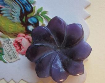 Large Deep Purple Glass Flower
