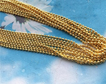 5 yards  2mm thickness solid Gold facet ball chains/bead chains/ Jewelry chains--brass material/craft supply chains