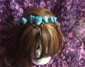 Turquoise druzy crown